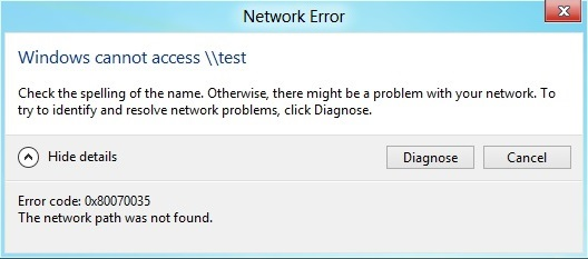 network-path-not-found