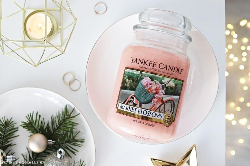 yankee candle market blossoms blog duża świeca, zapach niedostępny w Polsce