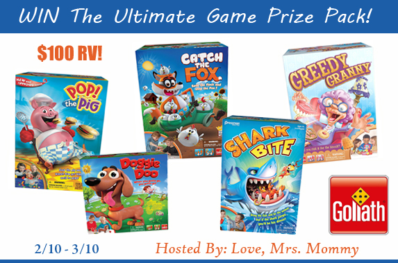 Goliath Games Ultimate Prize Pack Giveaway! $100 RV!