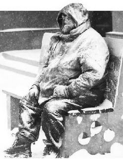 Kissuco congelou na Praça Osório, turista encontrado congelado no banco da praça