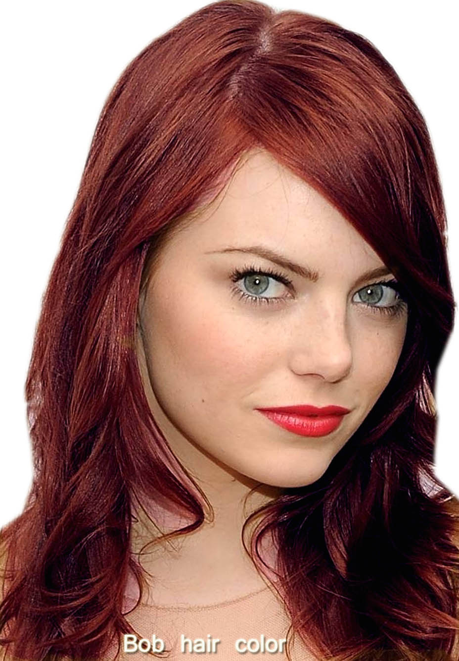 makeup for blue green eyes and red hair - wavy haircut