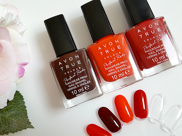 Review & Swatches: AVON True Colour Perfect Reds Collection - Nailpolish - tweed - tangfastic - royal red