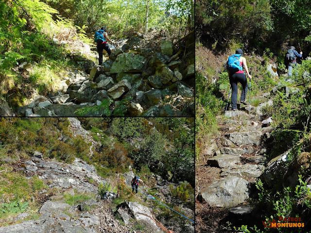 Ganando altura hacia la braña de Cuevas