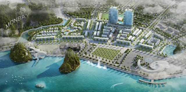 Mon Bay Hạ Long nằm ngay trung tâm Vịnh Hạ Long