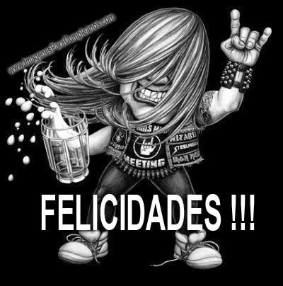 Felicidades rockero