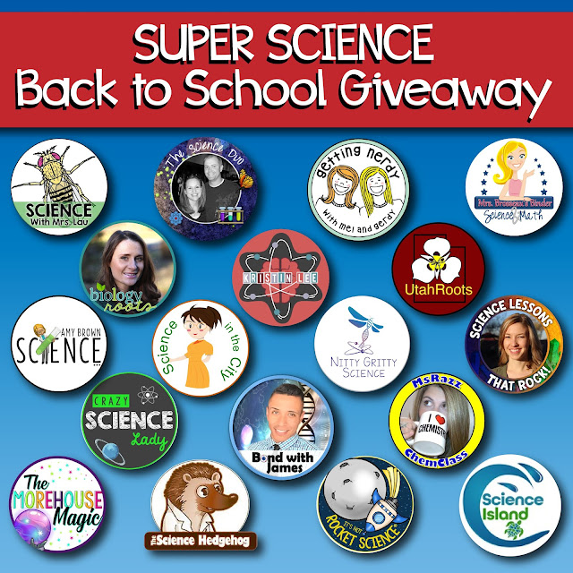 Beat those back to school blues by entering our mega secondary science teacher giveaway!  4 teachers will win $100 TpT gift cards.  You can also enter for the chance to win a biology or physical science unit from It's Not Rocket Science!  Don't miss out!