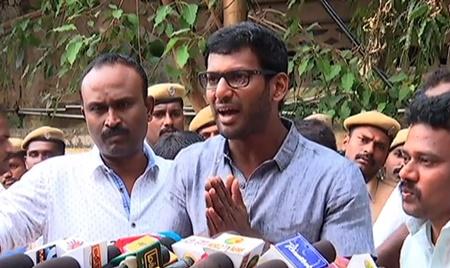 Vishal press meet | RK Nagar election