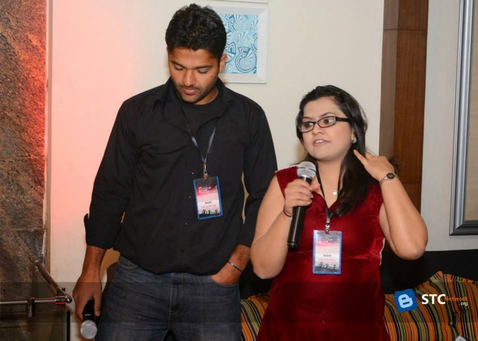 Hosts - Kashif Majeed (left) and Saeeda Rhubab (right)