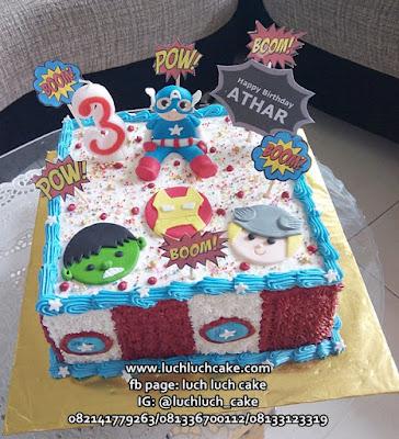 Avengers Birthday Cake Tart - Captain America