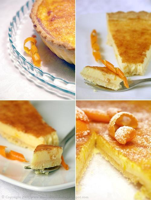 tarta pomarańczowa z mascarpone na kruchym spodzie