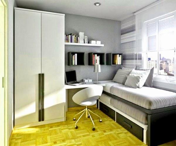 Contoh desain kamar tidur utama minimalis yang moderen