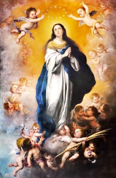 Inmaculada Concepción rodeada de ángeles