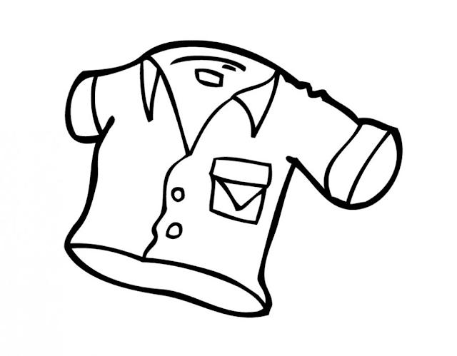 Mewarnai Gambar Pakaian Anak - 2