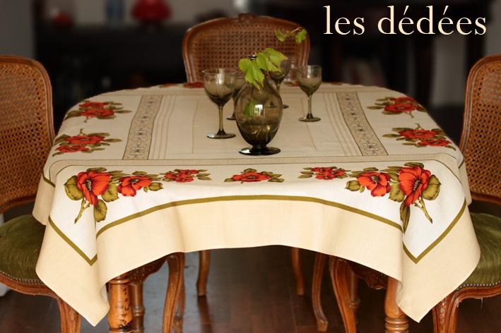 les dedees vintage recup creations romantique et retro la nappe il etait une fleur by ben. Black Bedroom Furniture Sets. Home Design Ideas