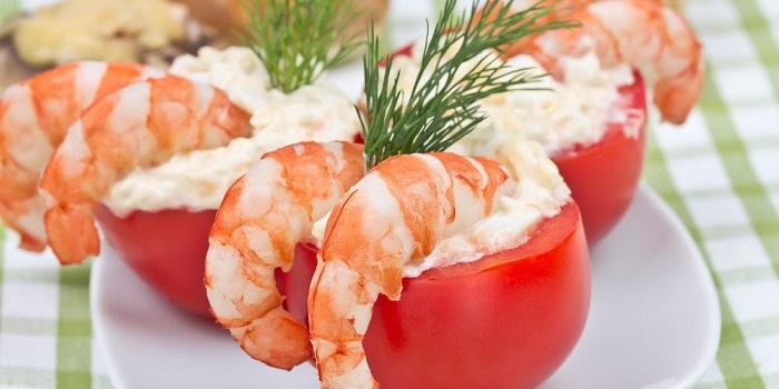 Tomates Rellenos con Langostinos