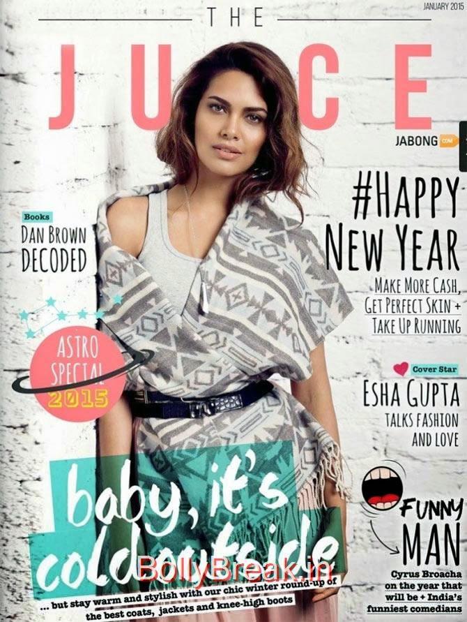 Esha Gupta, January Cover Girls Hot Pics