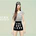 tucked Tee & GBL mini skirt_티셔츠와 GBL 미니스커트_여성 의류