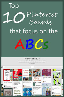 Top 10 Pinterest boards that focus on letter learning activities