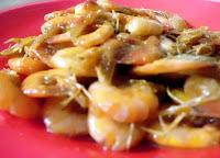 Resep kuliner udang sederhana dengan sensasi pedas dari saus sambal menawarkan embel-embel p RESEP TUMIS UDANG SAUS SAMBAL