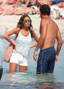 Fernando at the beach with his girlfriend