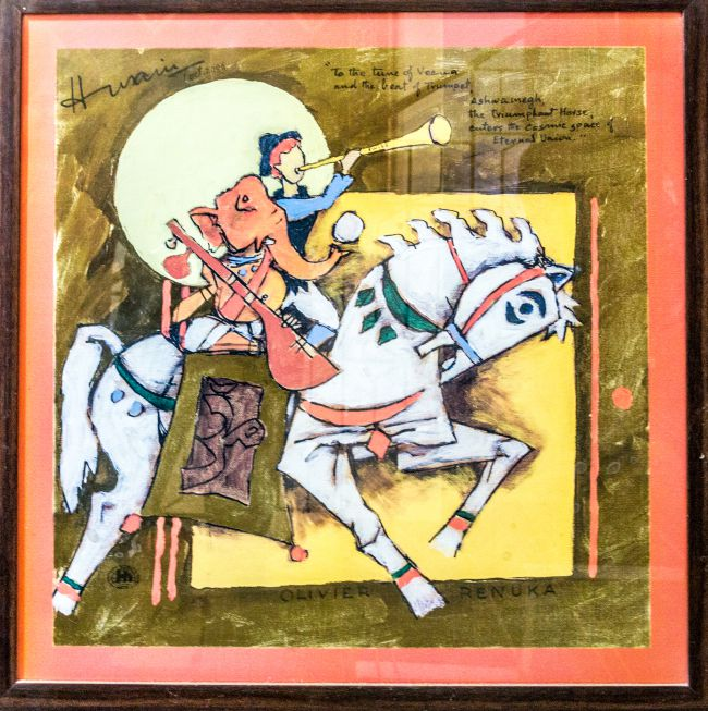 The prize possession - a M.F. Hussain Painting