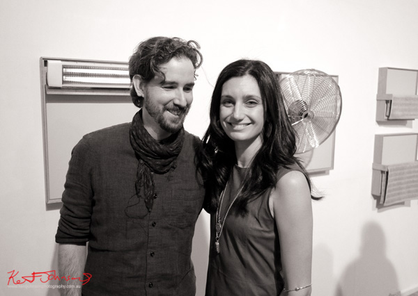 Artists Joe Wilson & Chanelle Collier at Mils gallery. Photography by Kent Johnson.