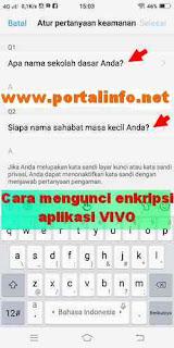 Cara kunci enkripsi aplikasi VIVO Y71