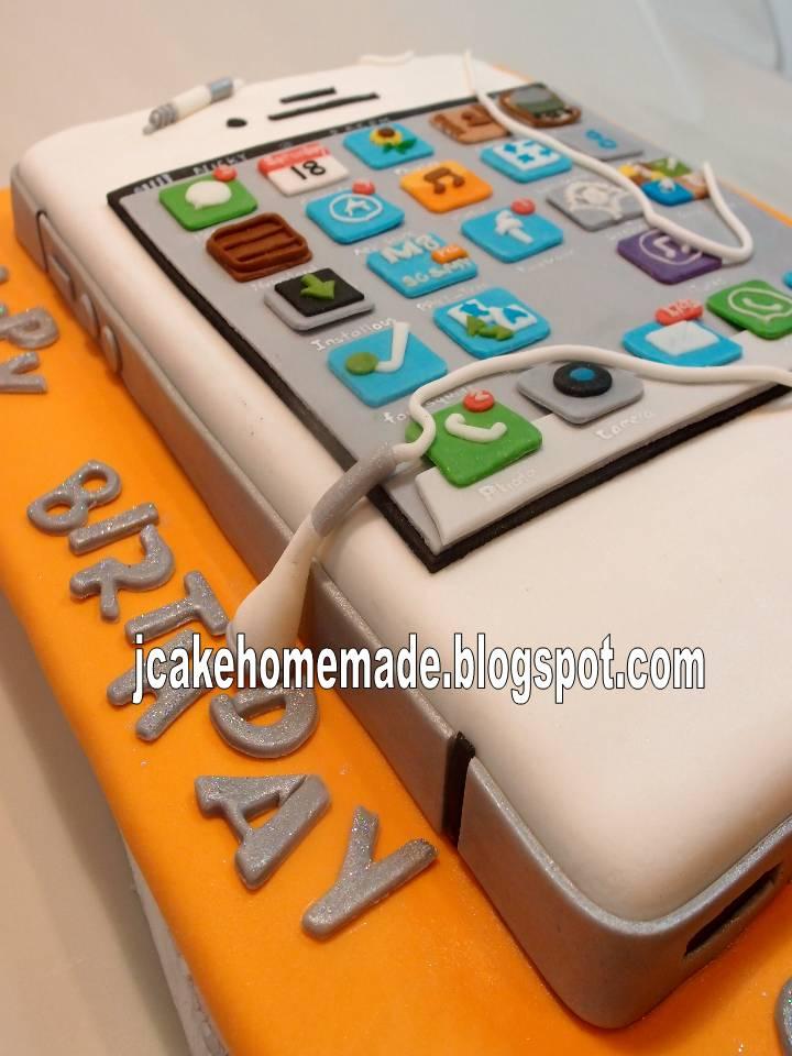 Jcakehomemade Iphone Birthday Cake