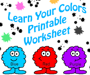Learn Your Colors Printable Worksheet