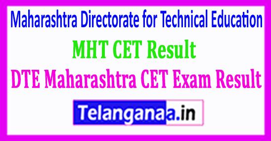MHT CET Exam Result DTE Maharashtra CET Exam Result 2018