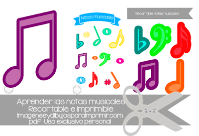 Notas musicales para niños