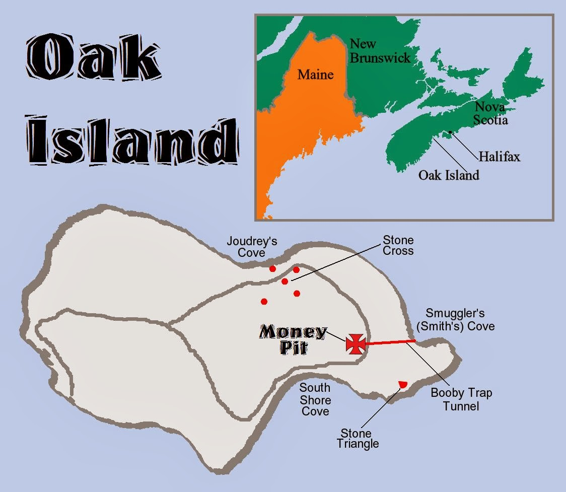Oak Island Map The Midnight Freemasons: The Mystery of Oak Island : Masonic