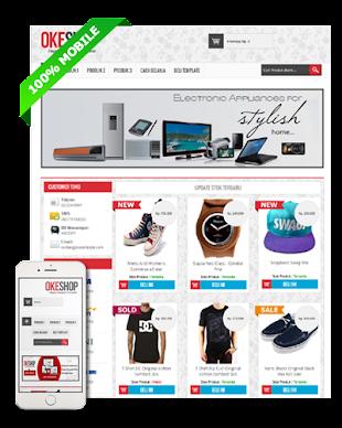 OKEshop - Blogspot Template Toko Online