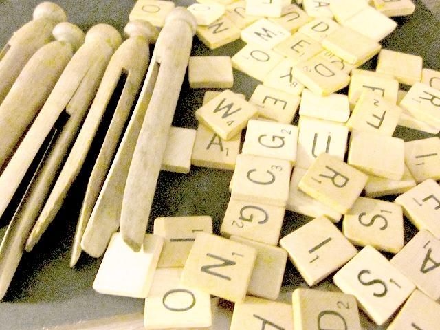 Scrabble Clothespin Ornaments