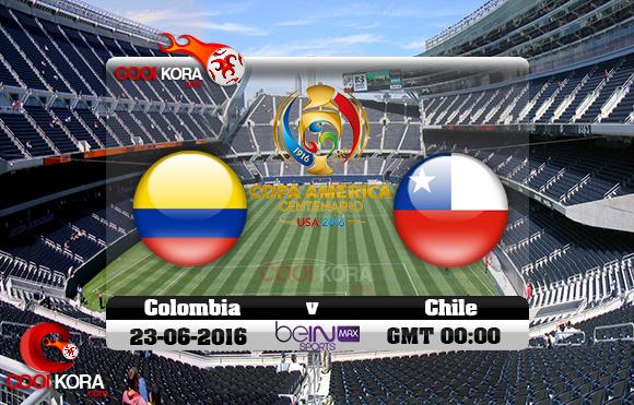 مشاهدة مباراة كولومبيا وتشيلي اليوم 23-6-2016 كوبا أمريكا