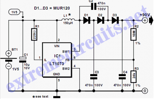 High Voltage Converter Schematic diagram