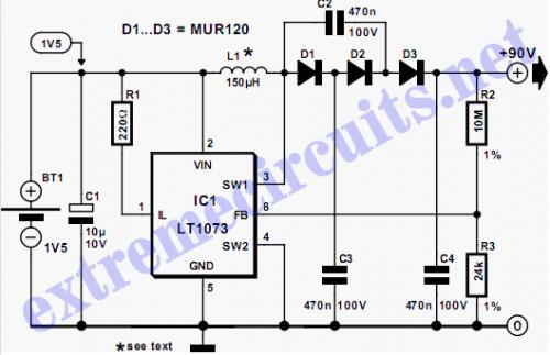 High Voltage Converter Schematic diagram
