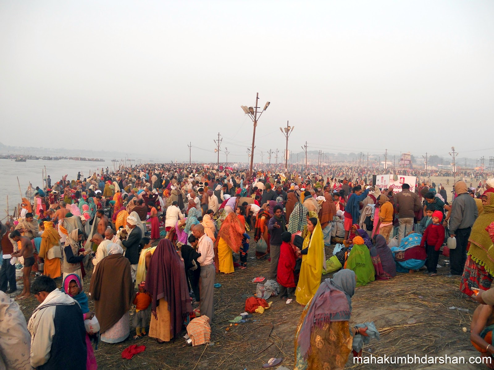 allahabad picture of the day croud in magh mela