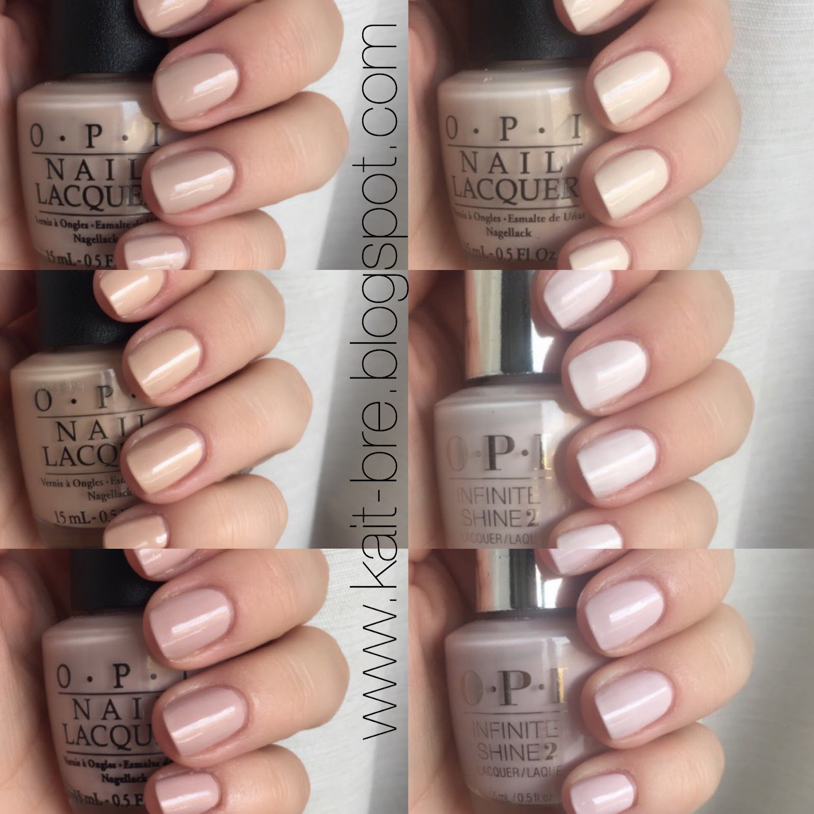 OPI Neutrals - Swatches & Reviews | Kait + Bre