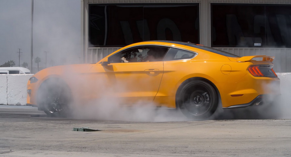 Four-cylinder a-peel: Line lock comes to 2018 Ford Mustang EcoBoost