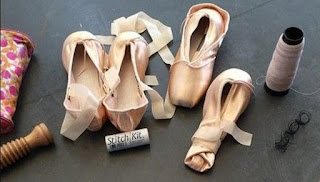 How to sew Pointe shoes elastic