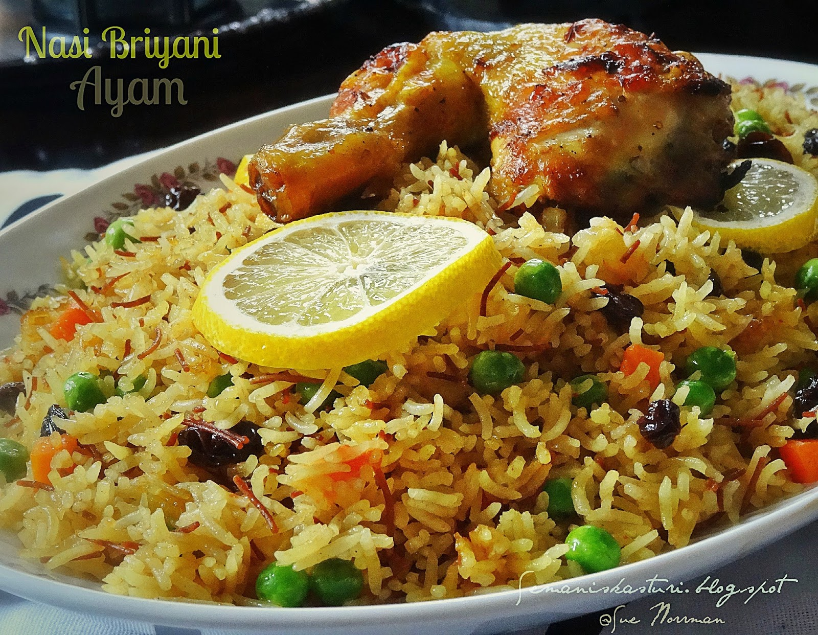 NASI BRIYANI AYAM SIMPLE ~ Swesia's Journey