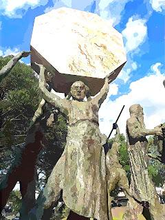 Monumento ao Cooperativismo, Praça das Flores, Nova Petrópolis