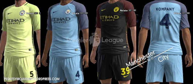 PES 2013 Manchester City Kit Season 2016-2017