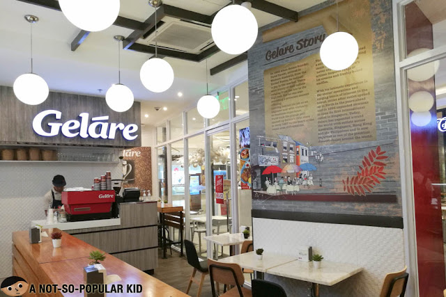 Interior of Gelare in Uptown Mall, BGC