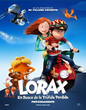 Poster Of The Lorax 2012 Dual Audio 120MB BRRip HEVC Mobile Free Download Watch Online Worldfree4u