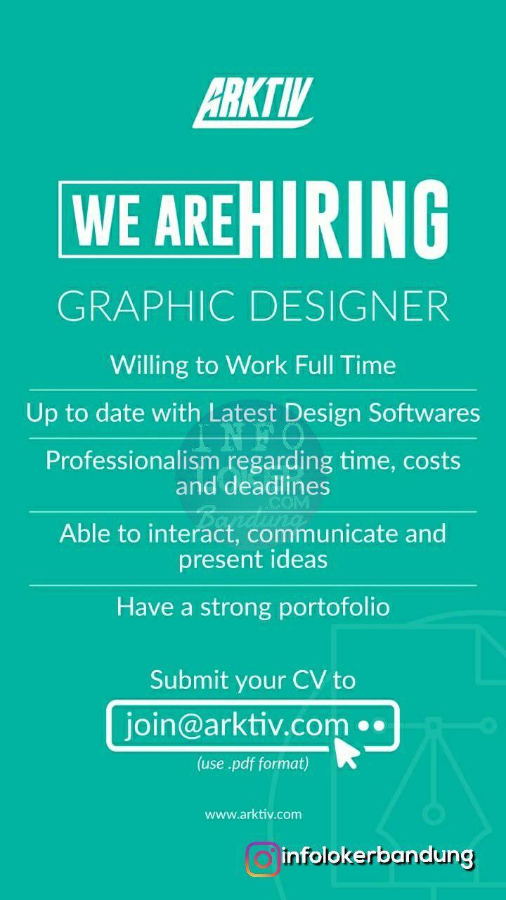 Lowongan Kerja Graphic Designer & Social Media Admin Arktiv Bandung September 2018