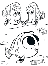 Cute Nemo Fish Coloring Pages FOR Kids