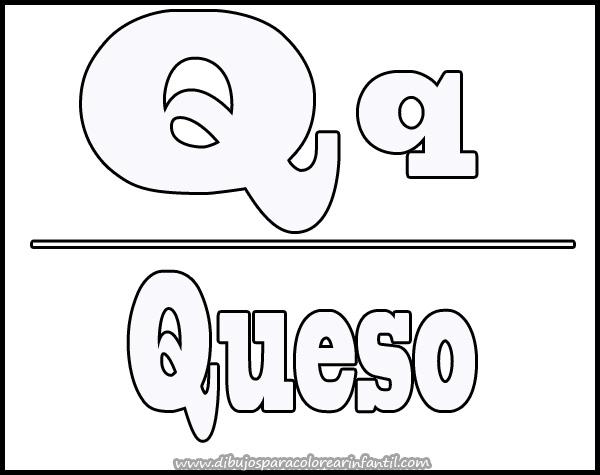 Dibujos Para Colorear Letra Q: Figuras Con La Letra Q