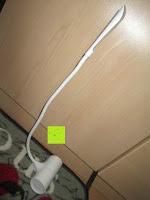 lang: GHB dimmbare LED Schreibtischlampe 3-Level Helligkeit 360° flexiblen Schwanenhals Tischlampe -Weiß [Energieklasse A+]